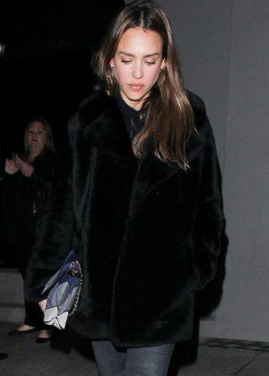 Jessica Alba - Leaving Craigs' Restaurant in West Hollywood