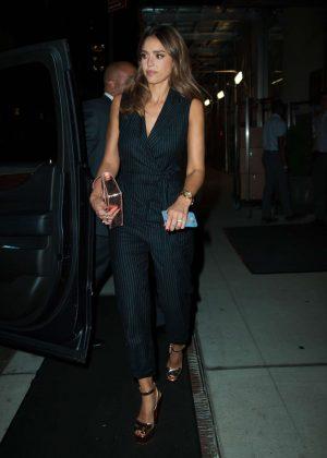 Jessica Alba Leaving her hotel in New York