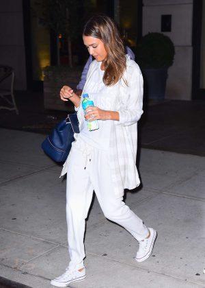 Jessica Alba - Leaving her hotel in New York