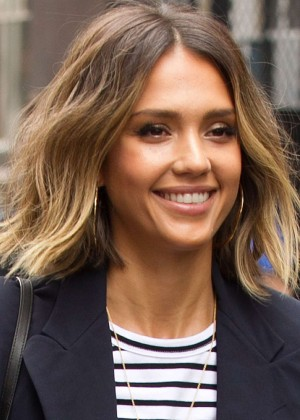 Jessica Alba: Leaving her hotel in NYC -05