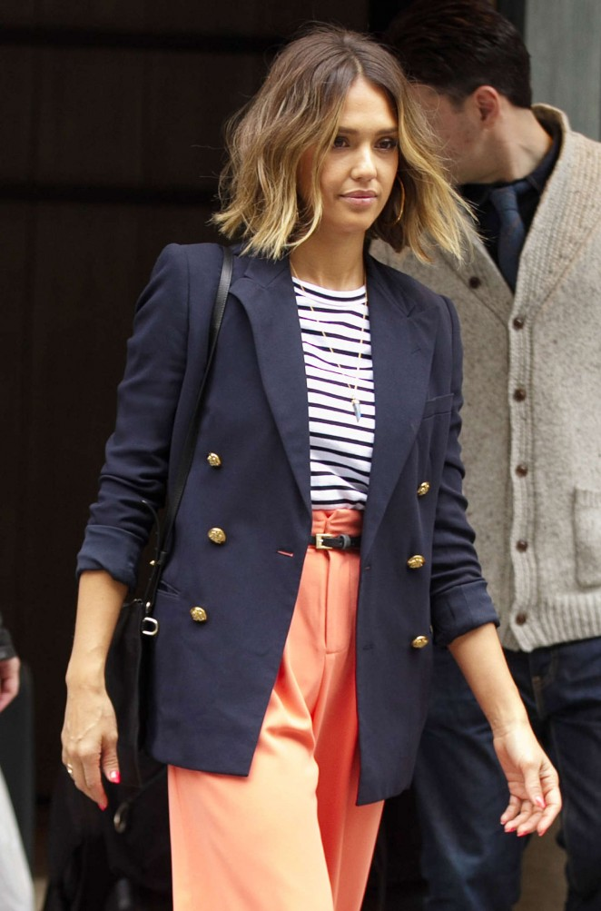 Jessica Alba - Leaving her hotel in NYC