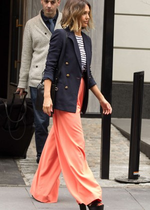 Jessica Alba: Leaving her hotel in NYC -09