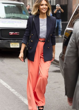Jessica Alba: Leaving her hotel in NYC -13