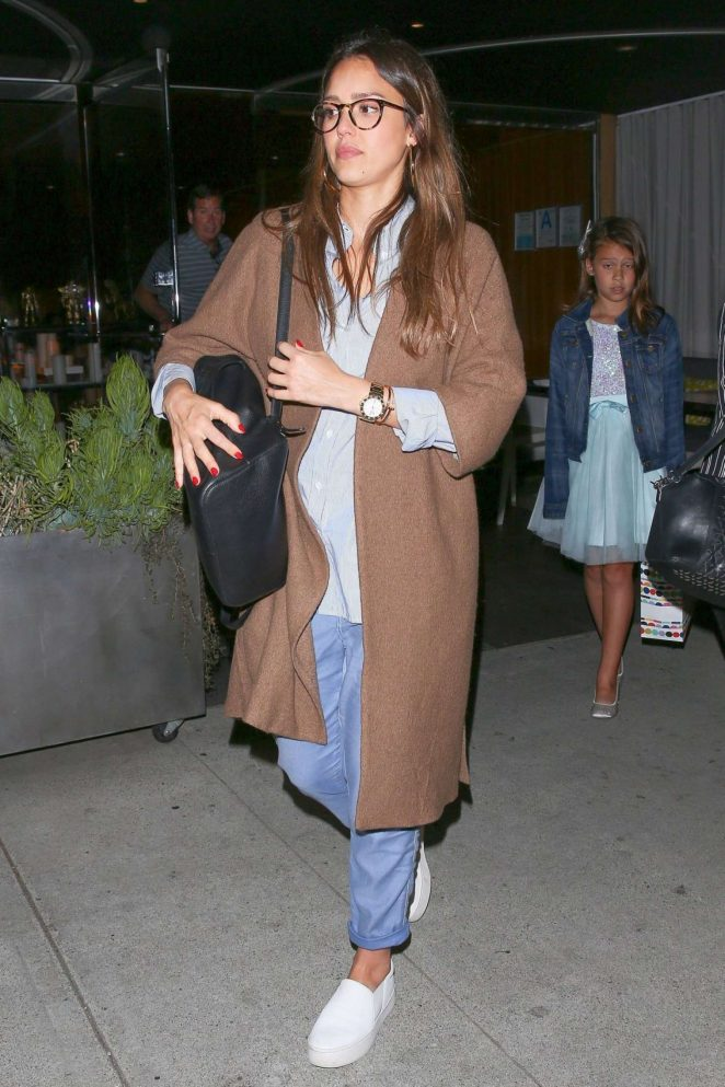 Jessica Alba - Leaving Katsuya Restaurant in Hollywood