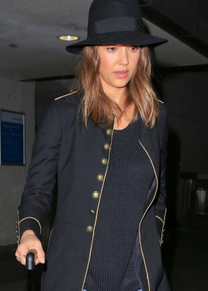Jessica Alba - Leaving the Edition Hotel in New York