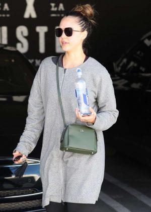 Jessica Alba - Leaving the gym in LA