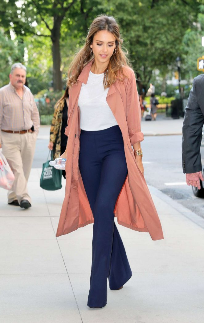 Jessica Alba - Leaving 'The Late Show with Stephen Colbert' in NYC