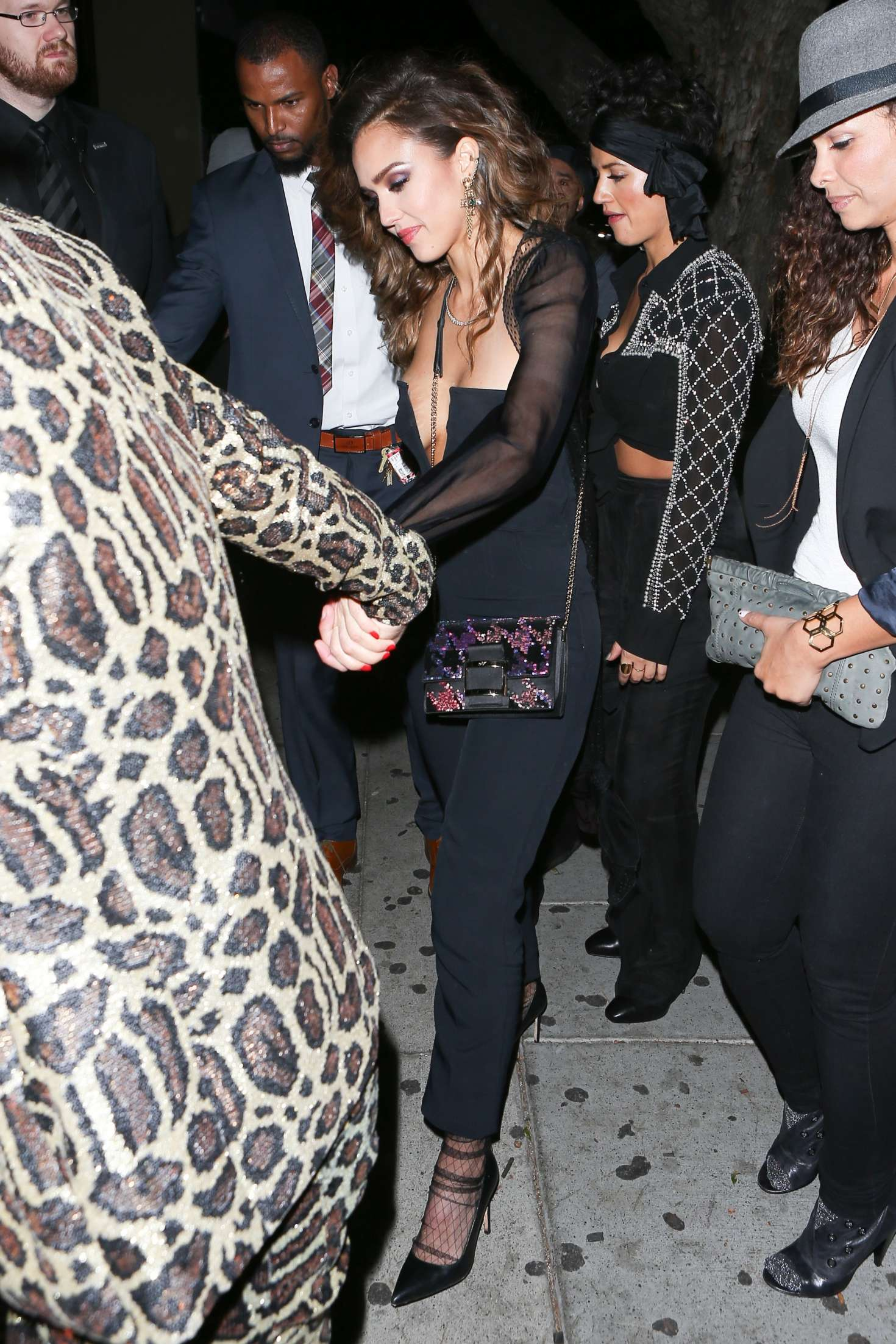 Jessica Alba Leaving the Peppermint club in West Hollywood