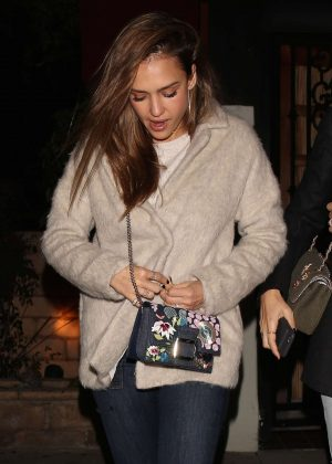 Jessica Alba - Night out at Matsuhisa in Beverly Hills