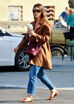 Jessica Alba - On a coffee run in Palm Springs
