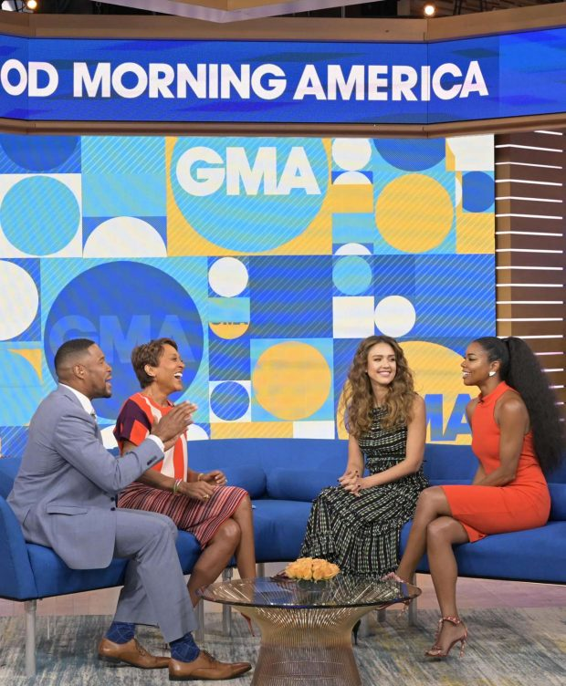 Jessica Alba - On Good Morning America in NYC