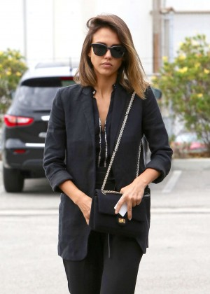 Jessica Alba - Out and about in Culver City