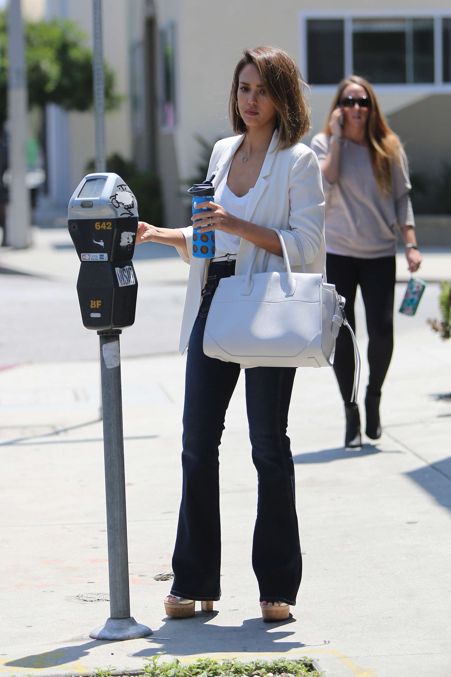 Jessica Alba - Out and about in West Hollywood