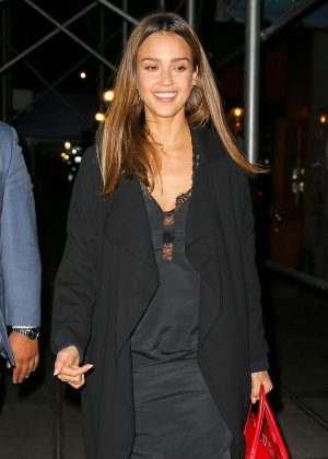 Jessica Alba out for dinner in New York City