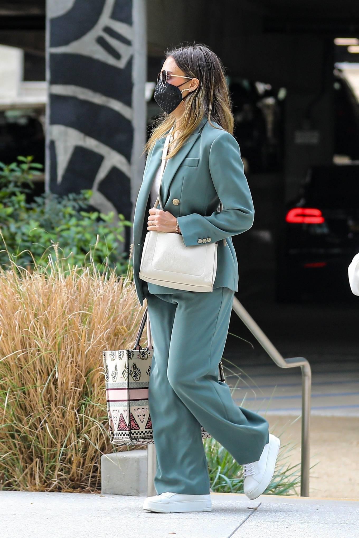 Jessica Alba 2021 : Jessica Alba – Out in a classy suit in Playa Vista-06