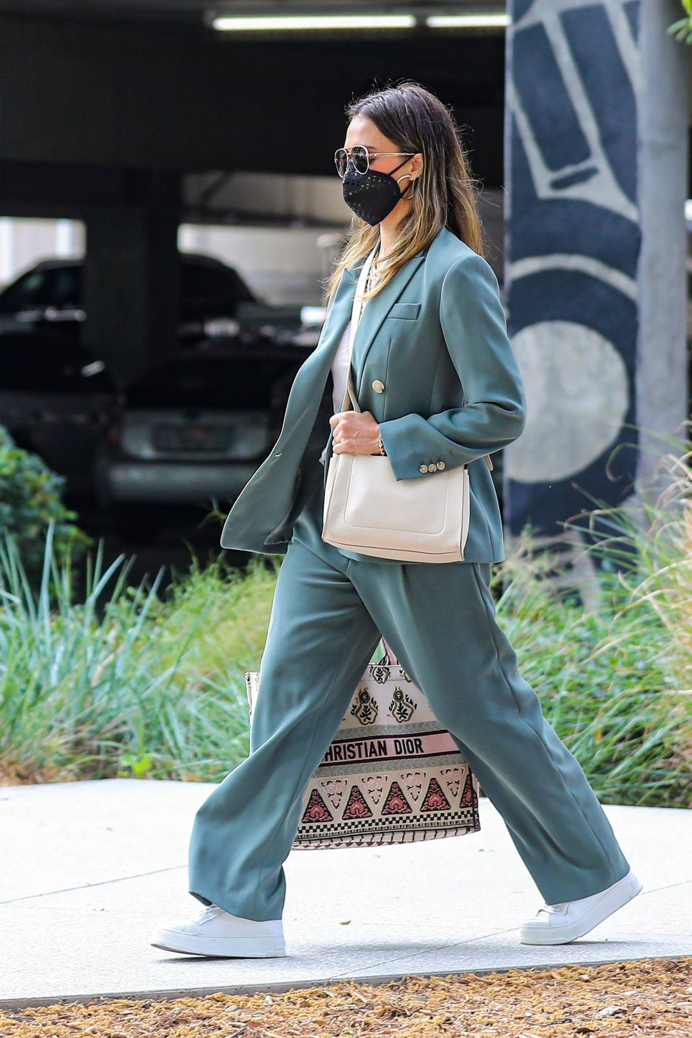 Jessica Alba 2021 : Jessica Alba – Out in a classy suit in Playa Vista-09