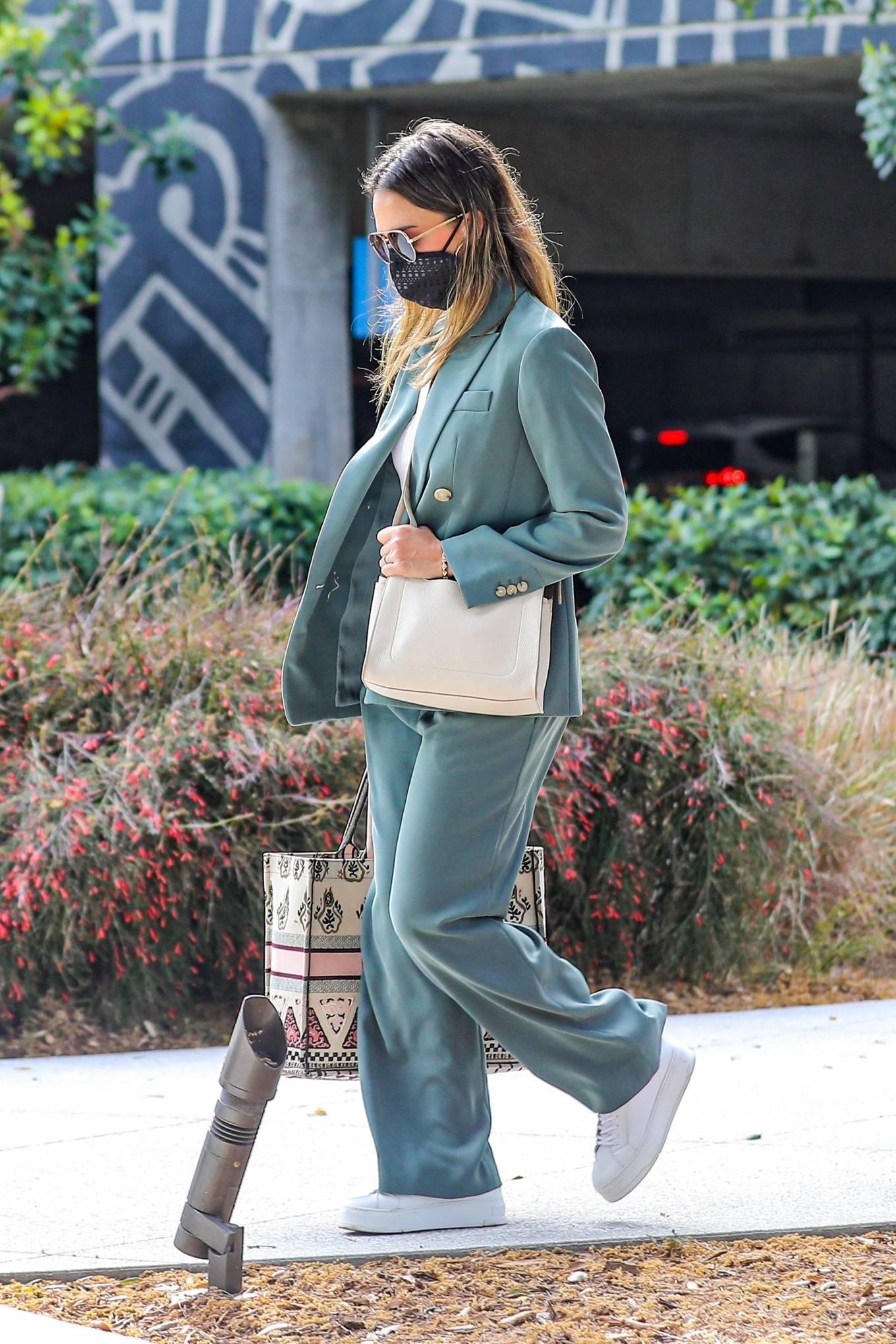 Jessica Alba 2021 : Jessica Alba – Out in a classy suit in Playa Vista-13