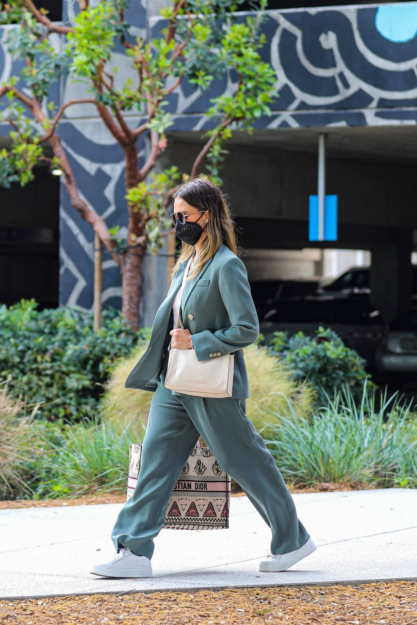 Jessica Alba 2021 : Jessica Alba – Out in a classy suit in Playa Vista-14