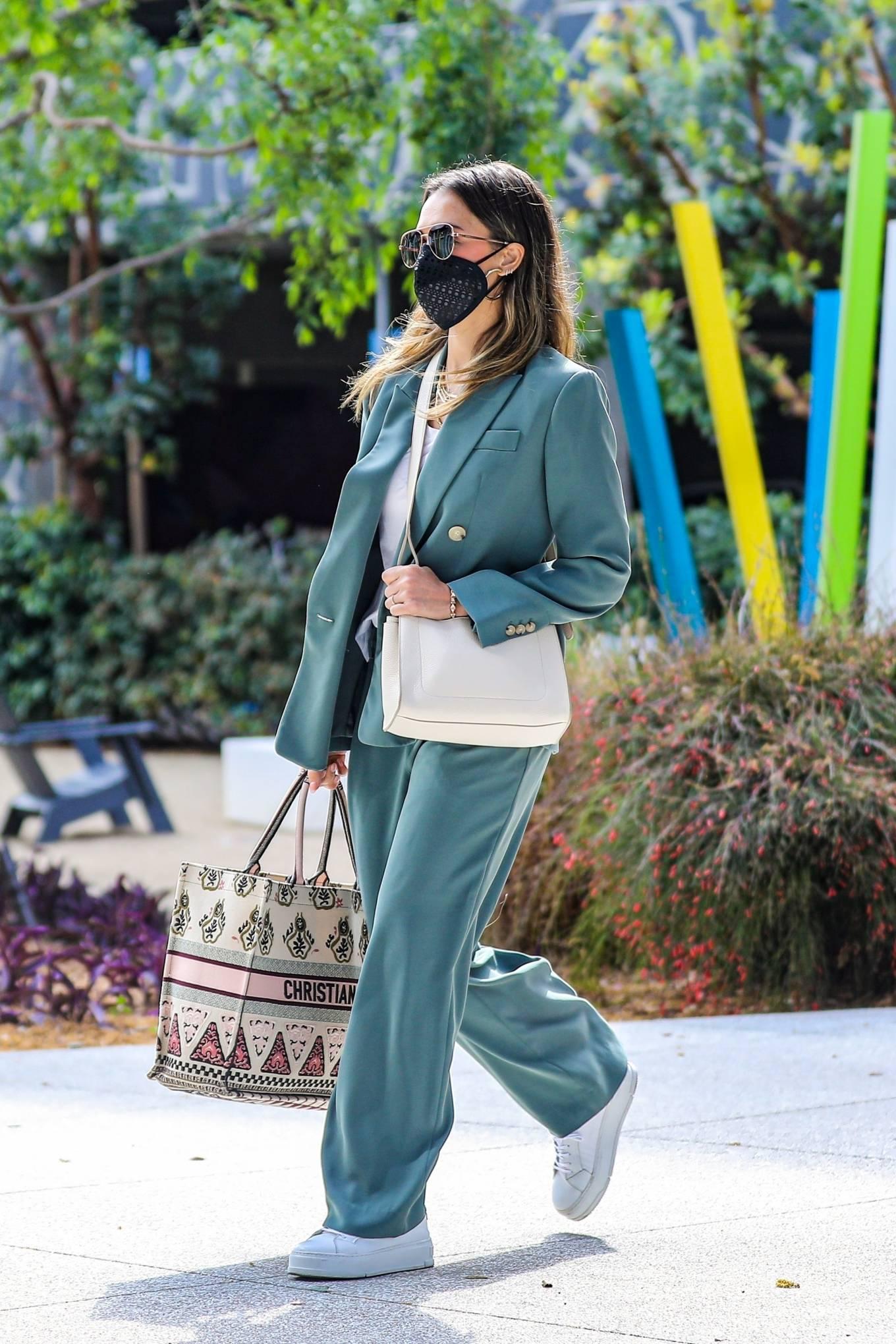 Jessica Alba 2021 : Jessica Alba – Out in a classy suit in Playa Vista-15