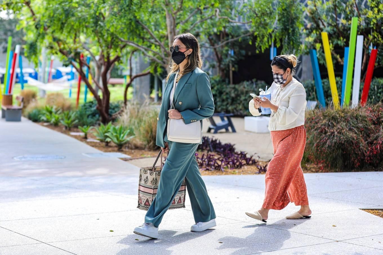 Jessica Alba 2021 : Jessica Alba – Out in a classy suit in Playa Vista-16