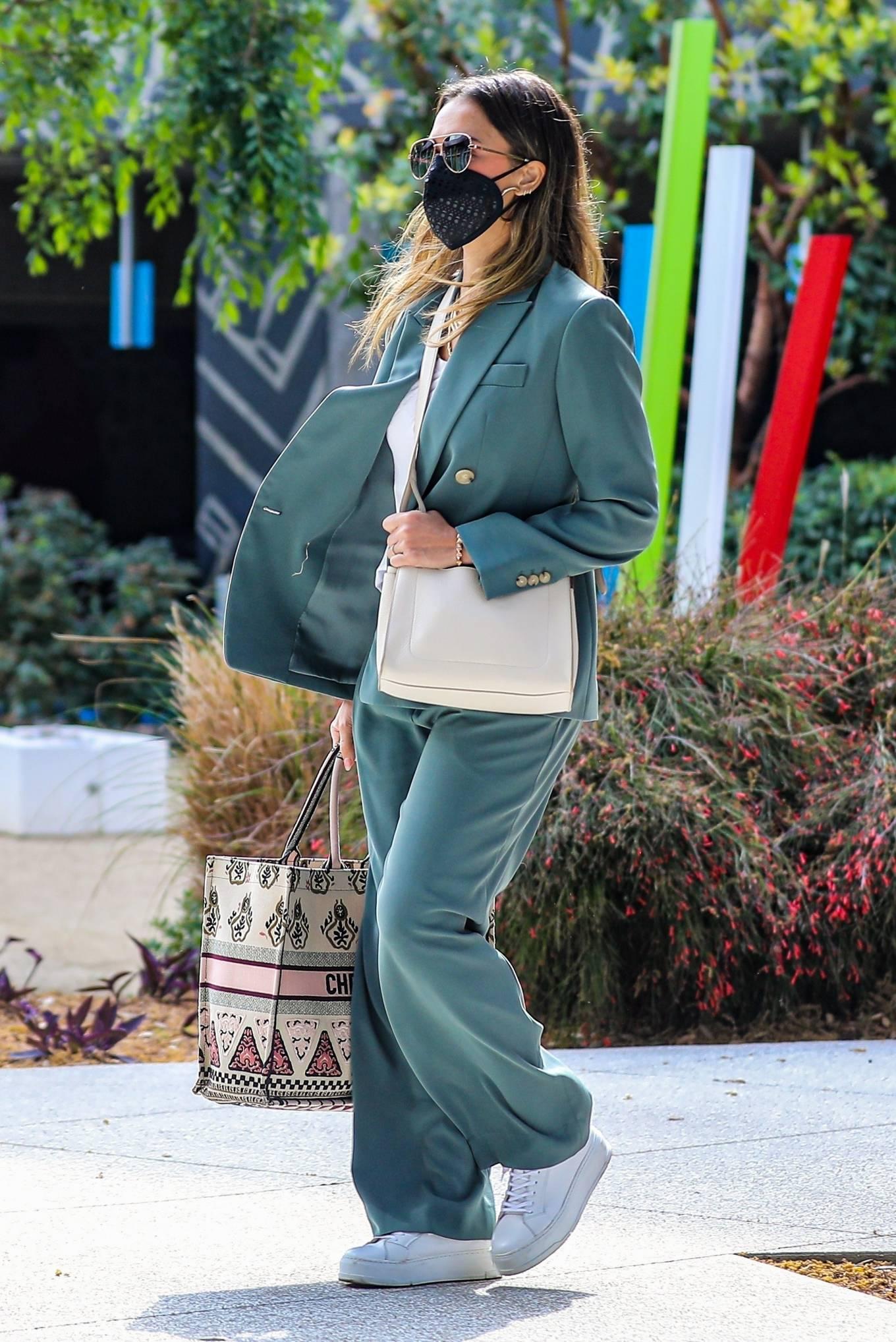 Jessica Alba 2021 : Jessica Alba – Out in a classy suit in Playa Vista-17