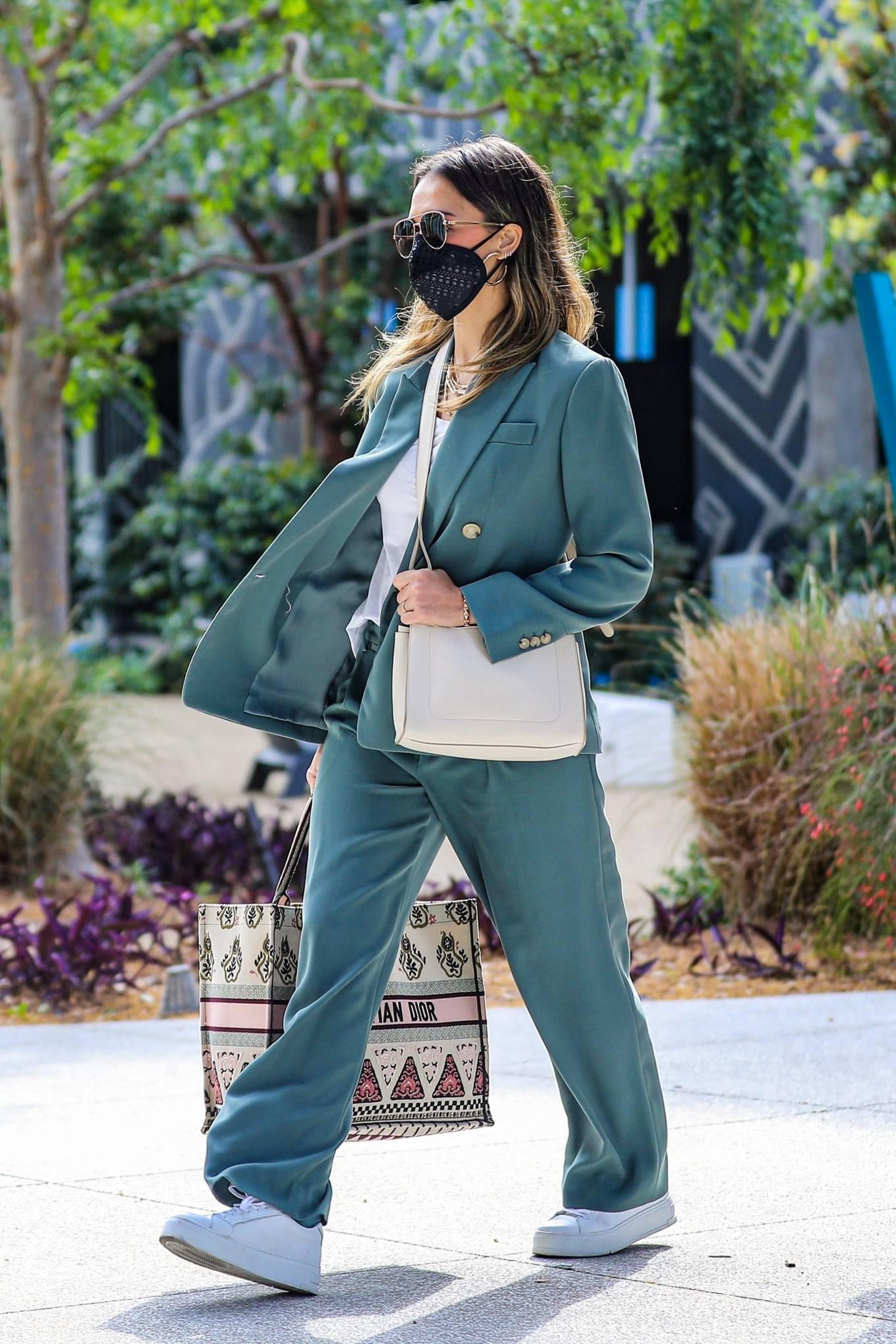 Jessica Alba 2021 : Jessica Alba – Out in a classy suit in Playa Vista-18