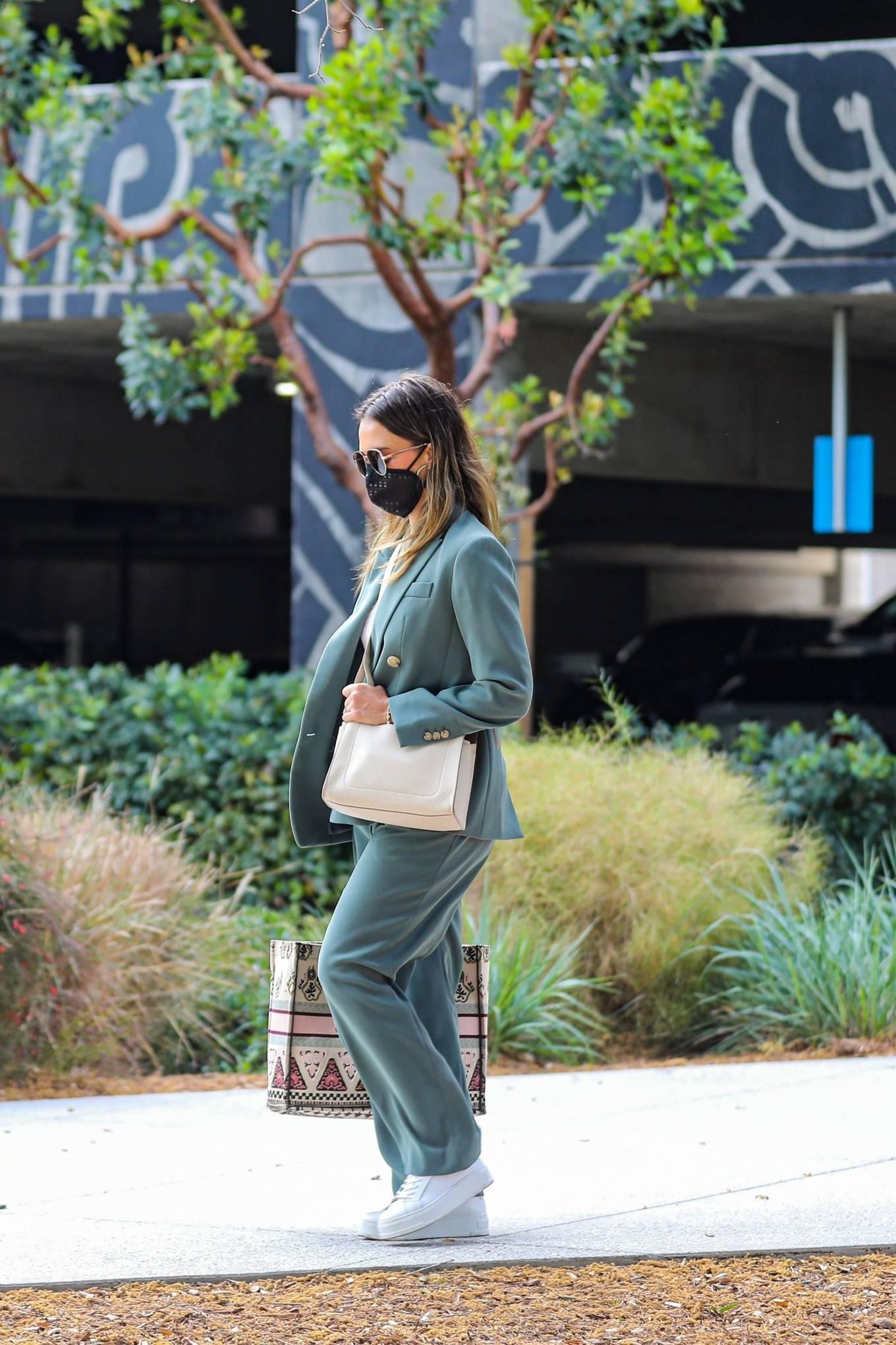 Jessica Alba 2021 : Jessica Alba – Out in a classy suit in Playa Vista-19