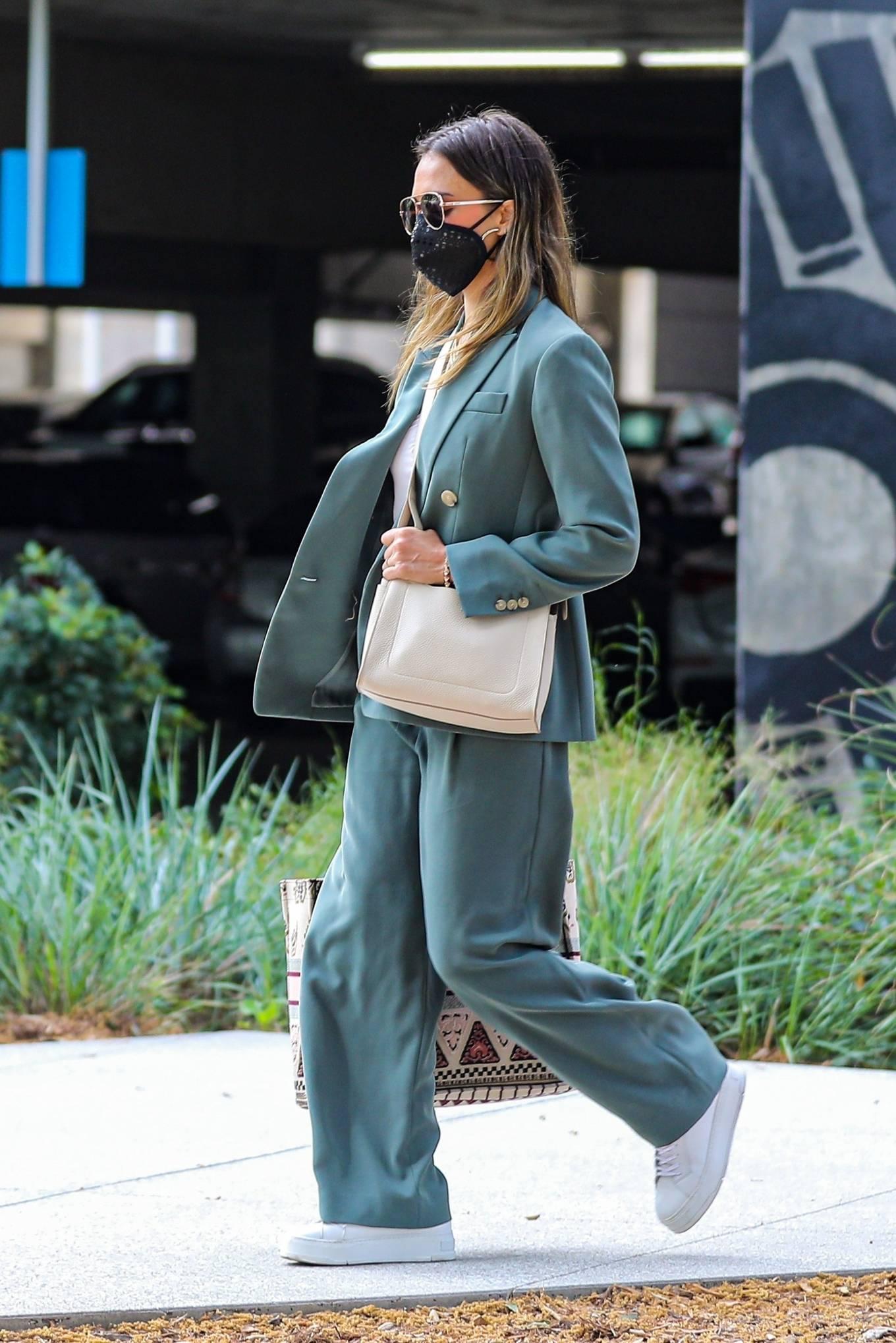 Jessica Alba 2021 : Jessica Alba – Out in a classy suit in Playa Vista-21