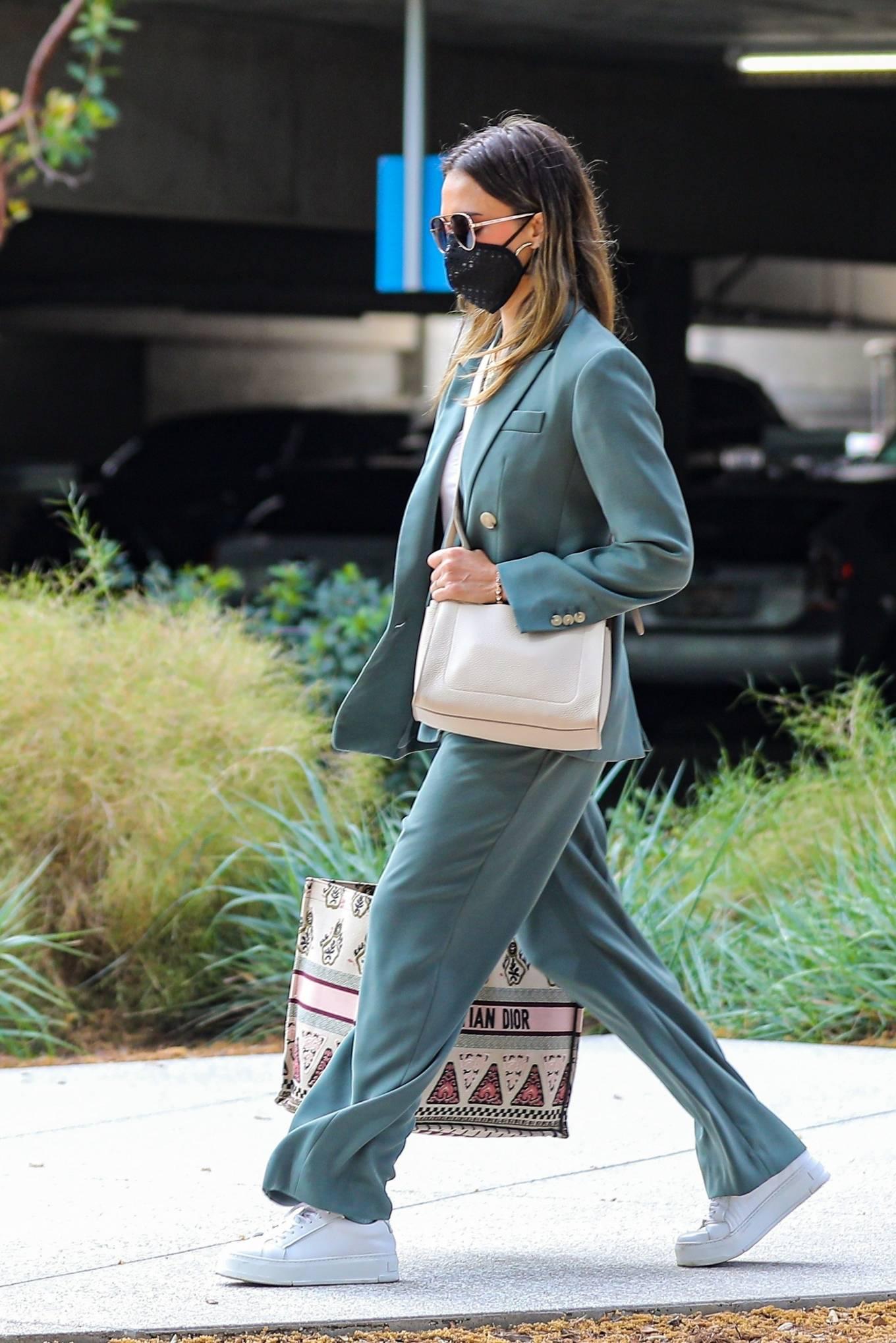 Jessica Alba 2021 : Jessica Alba – Out in a classy suit in Playa Vista-22