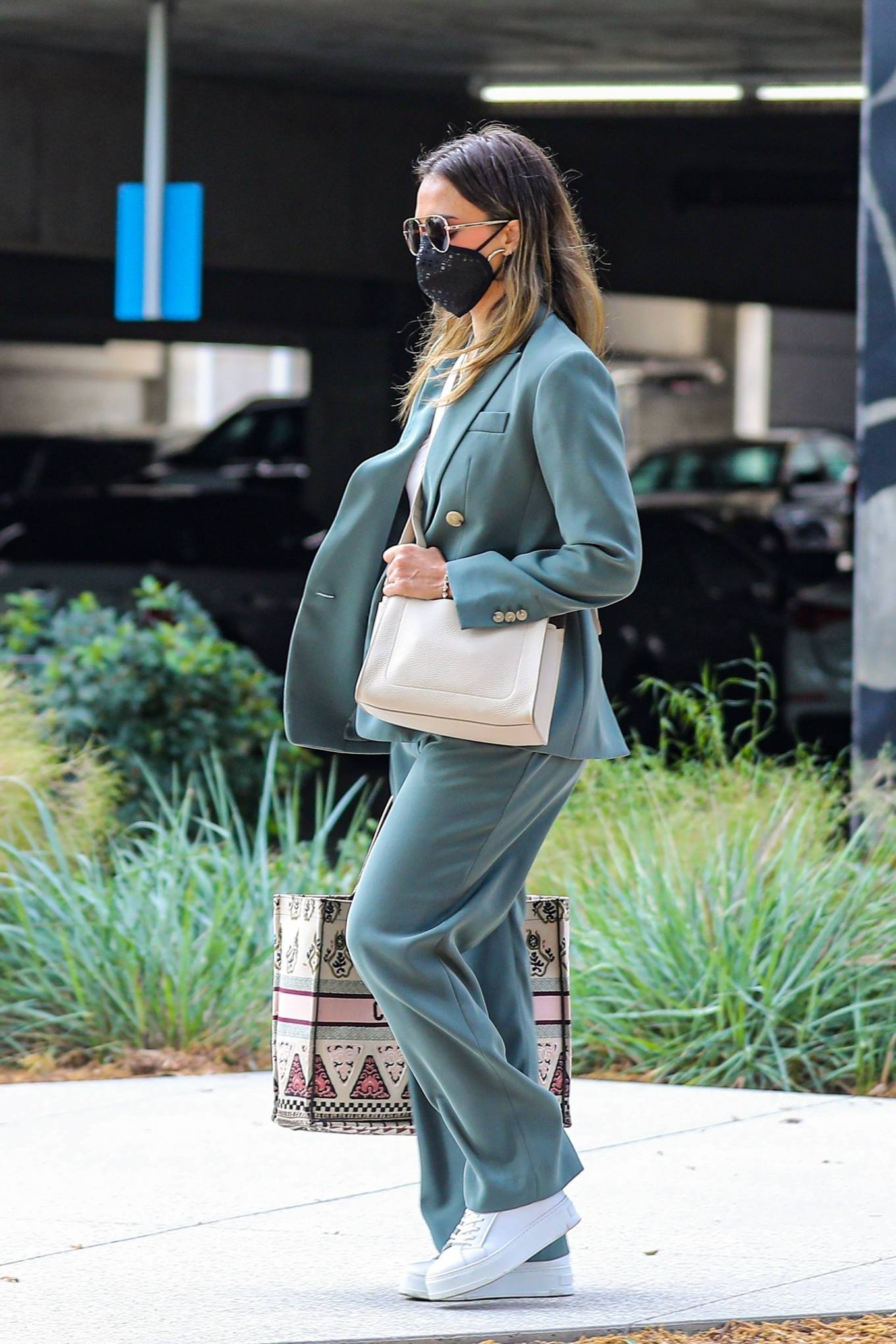 Jessica Alba 2021 : Jessica Alba – Out in a classy suit in Playa Vista-23