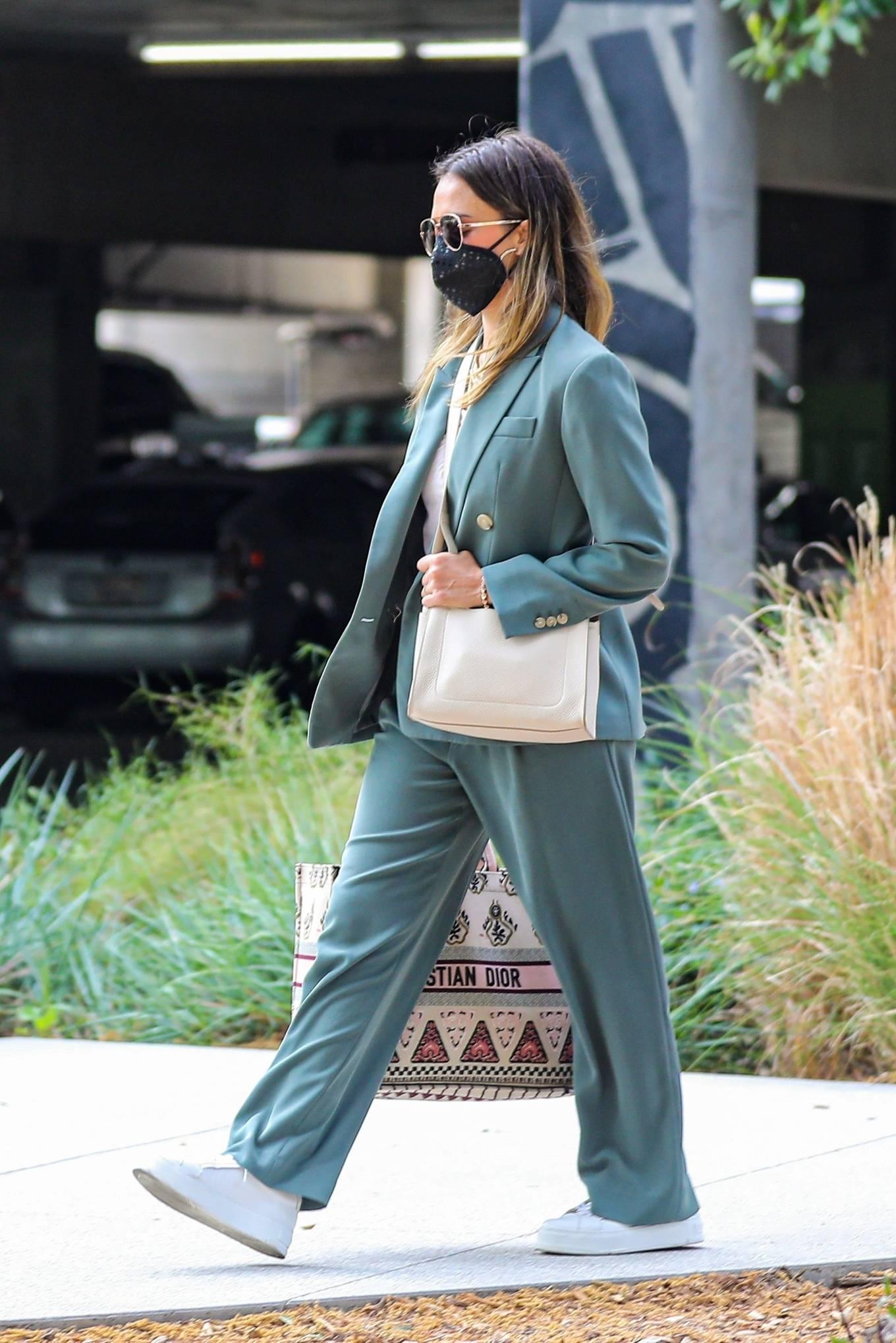 Jessica Alba 2021 : Jessica Alba – Out in a classy suit in Playa Vista-26