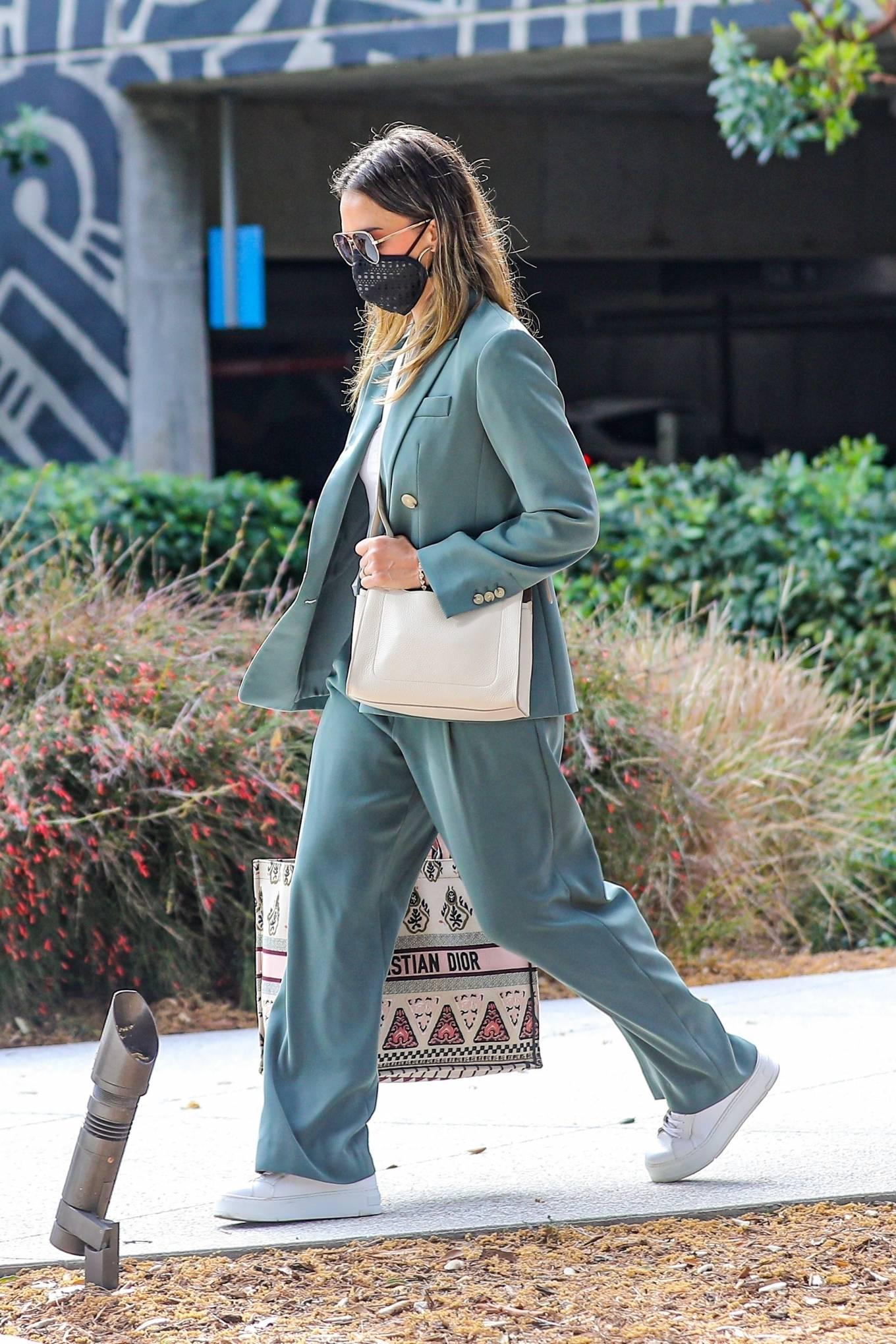 Jessica Alba 2021 : Jessica Alba – Out in a classy suit in Playa Vista-27
