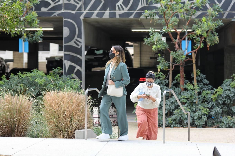 Jessica Alba 2021 : Jessica Alba – Out in a classy suit in Playa Vista-28