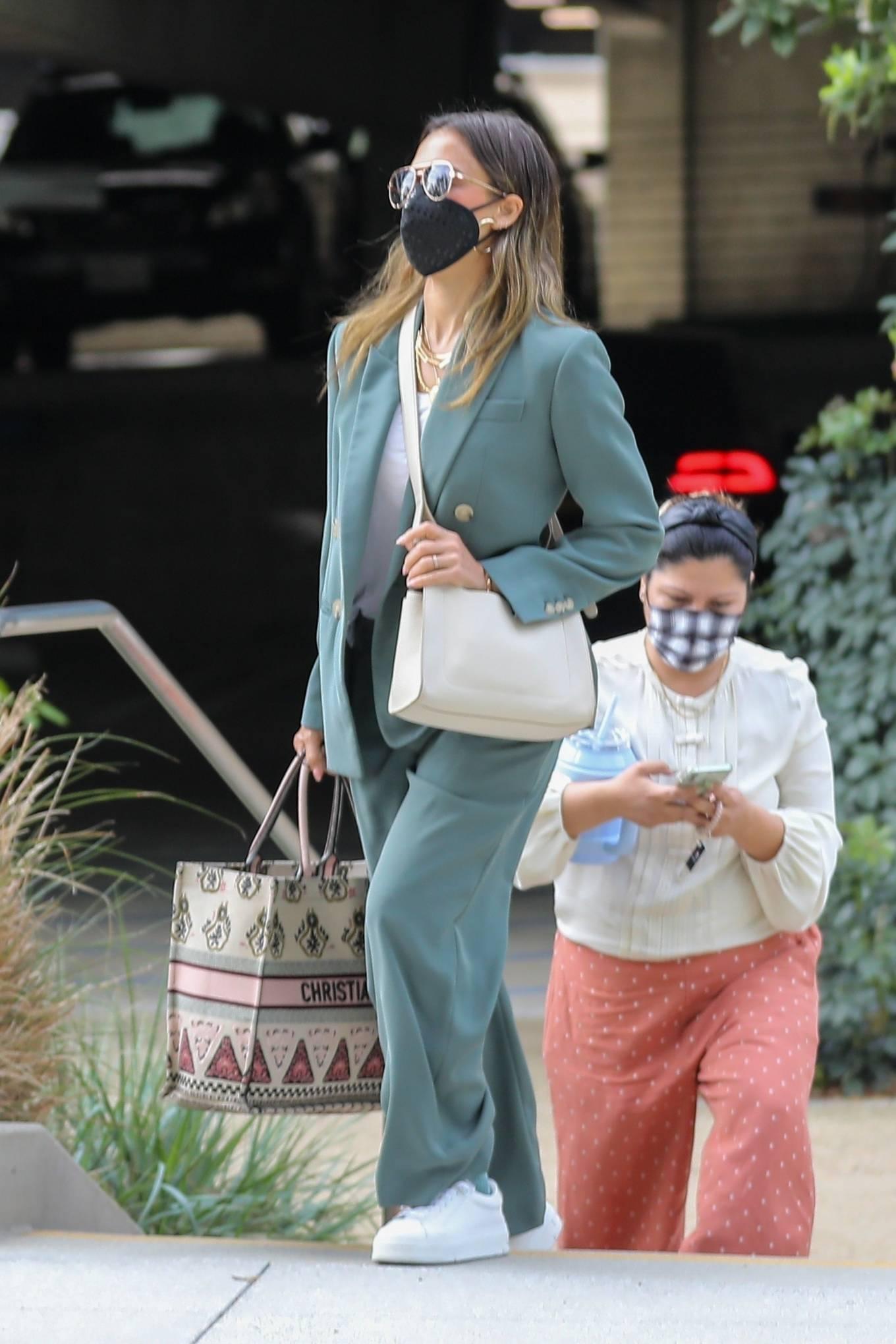 Jessica Alba 2021 : Jessica Alba – Out in a classy suit in Playa Vista-29