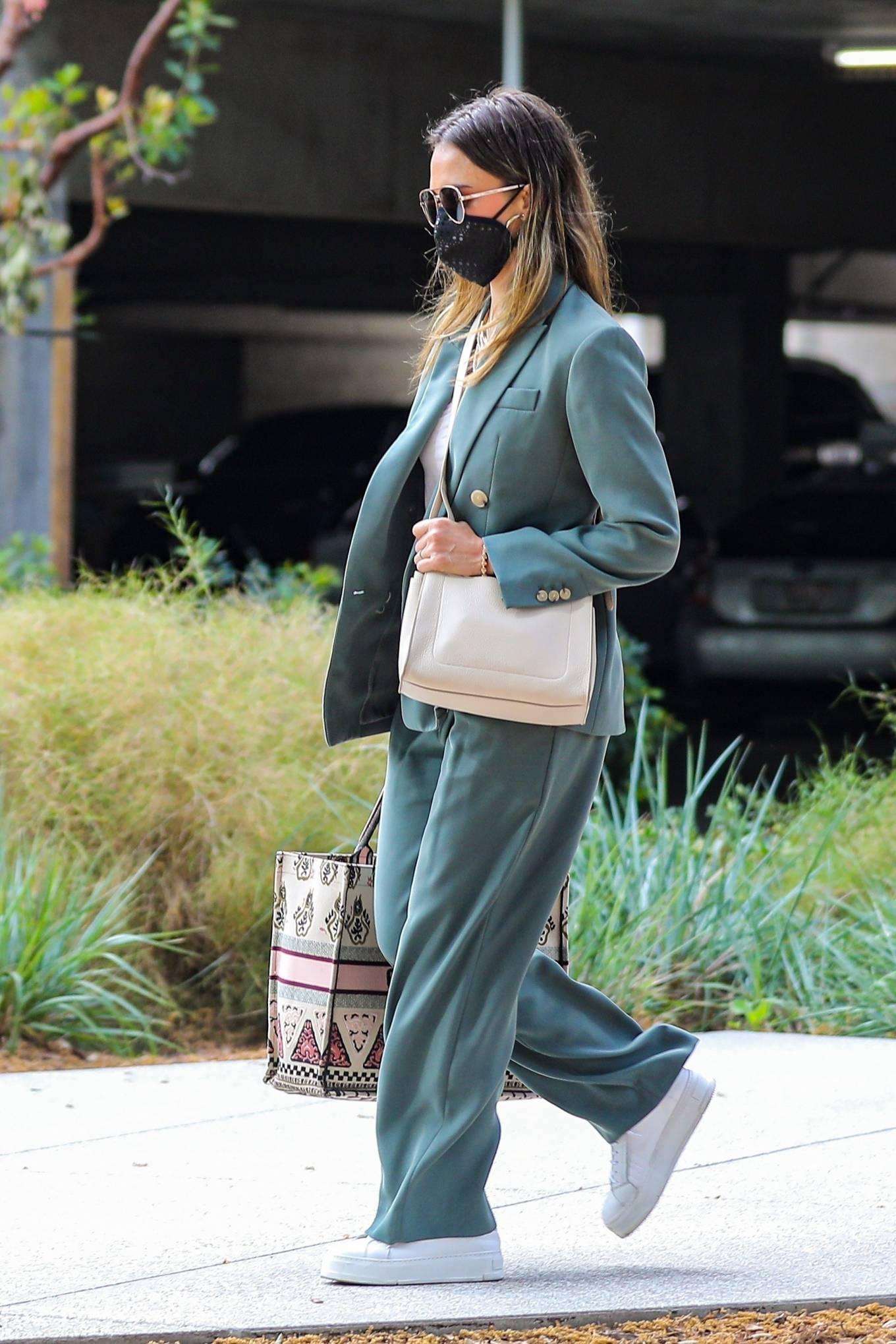 Jessica Alba 2021 : Jessica Alba – Out in a classy suit in Playa Vista-30