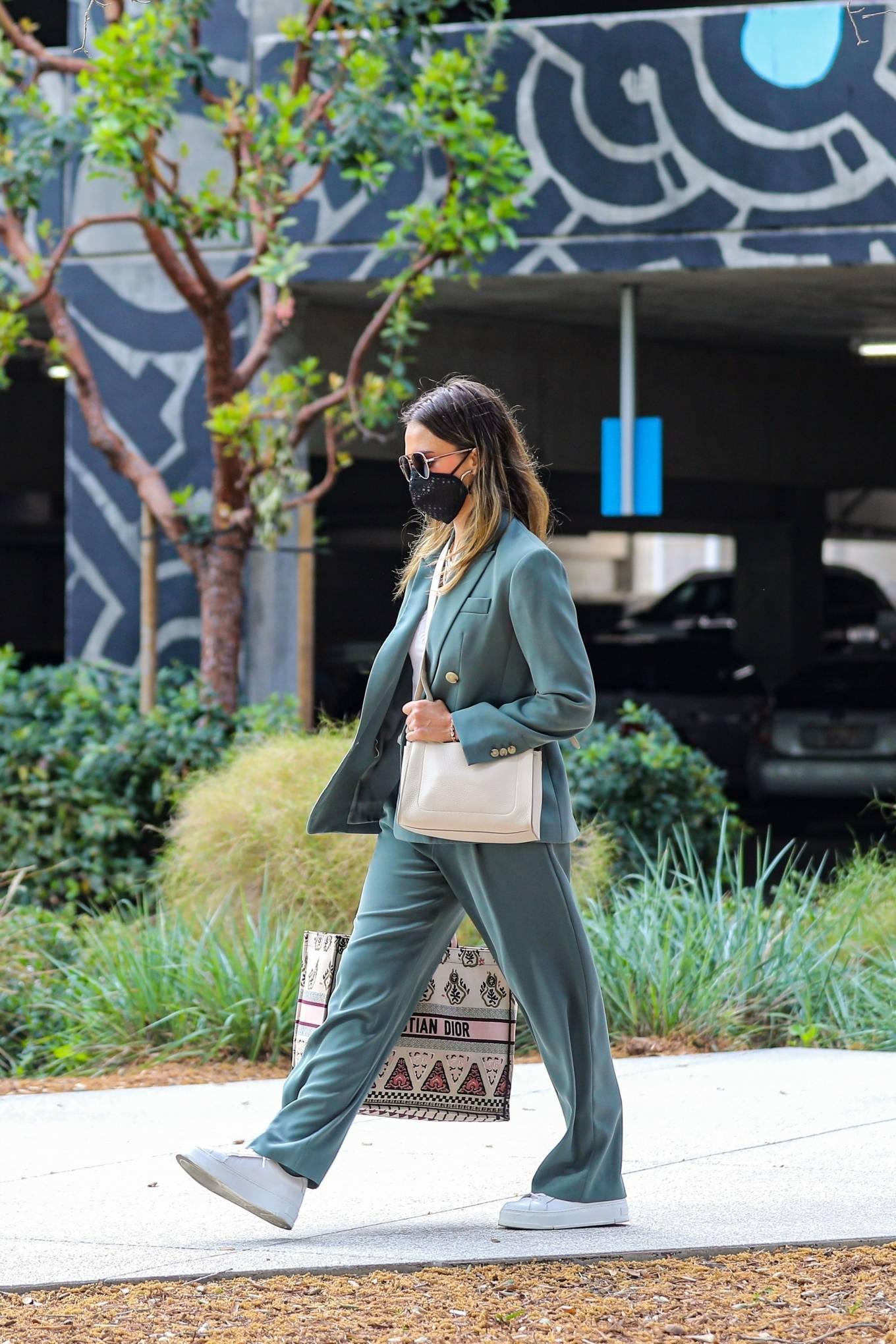 Jessica Alba 2021 : Jessica Alba – Out in a classy suit in Playa Vista-35