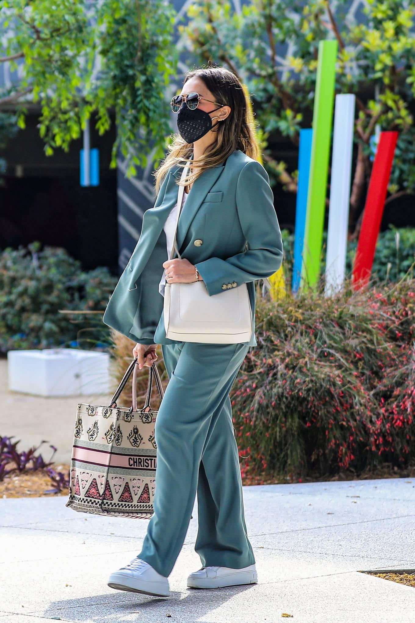 Jessica Alba 2021 : Jessica Alba – Out in a classy suit in Playa Vista-36
