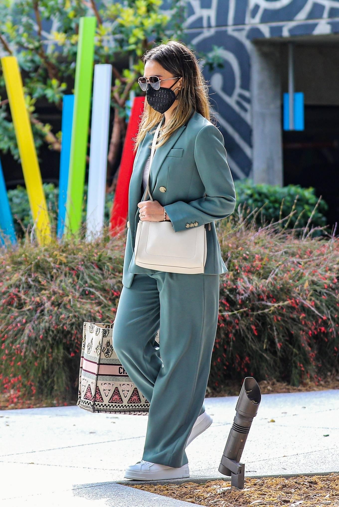 Jessica Alba 2021 : Jessica Alba – Out in a classy suit in Playa Vista-37