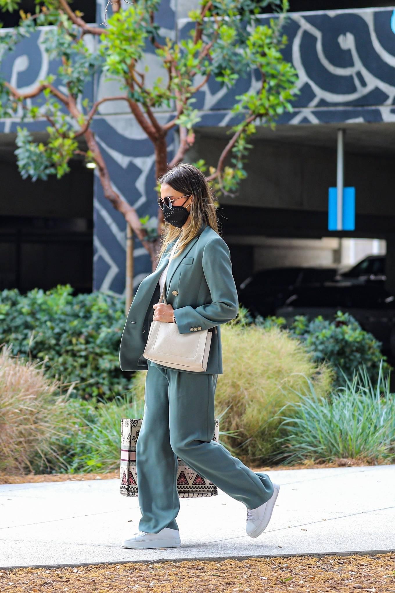 Jessica Alba 2021 : Jessica Alba – Out in a classy suit in Playa Vista-39