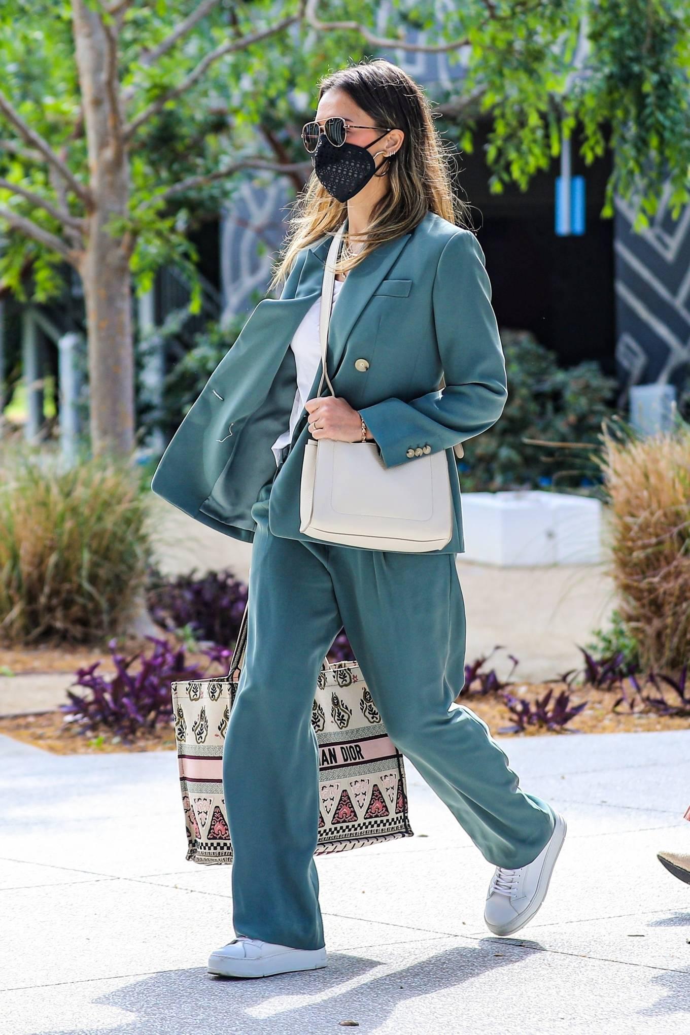 Jessica Alba 2021 : Jessica Alba – Out in a classy suit in Playa Vista-40