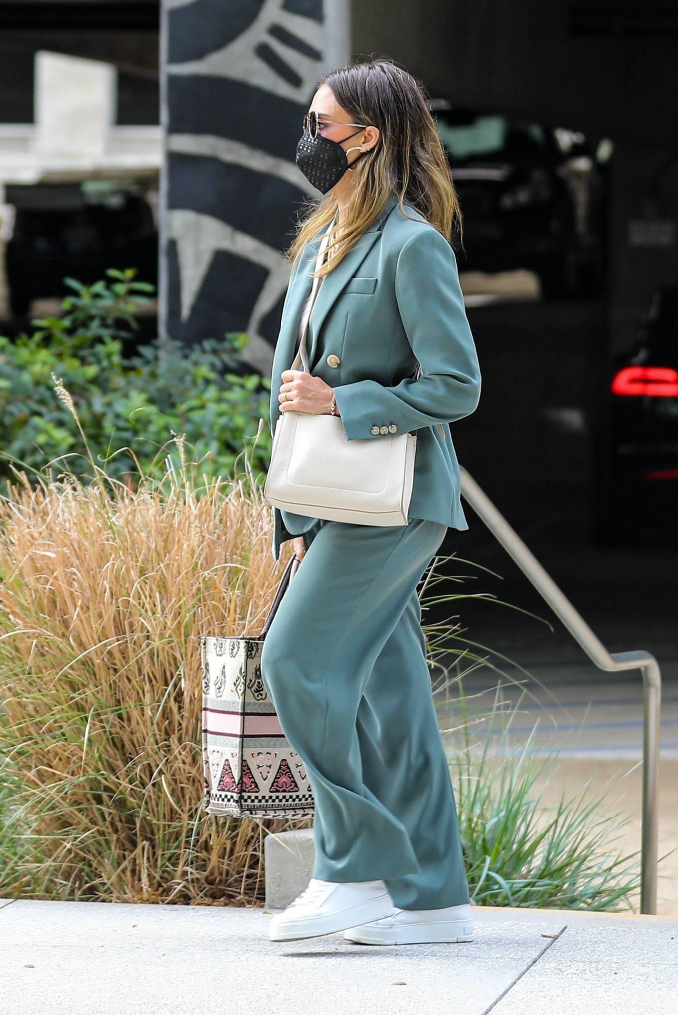 Jessica Alba 2021 : Jessica Alba – Out in a classy suit in Playa Vista-41