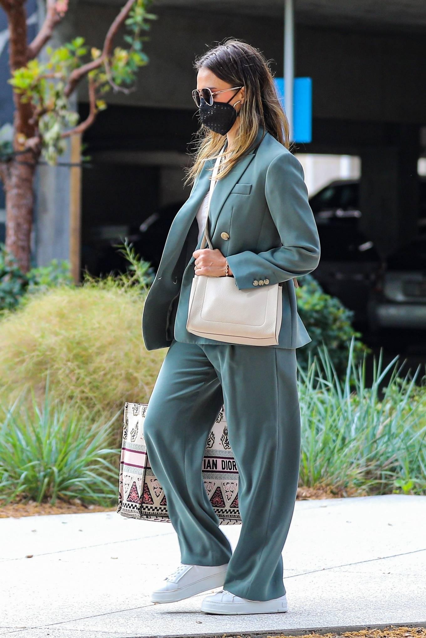 Jessica Alba 2021 : Jessica Alba – Out in a classy suit in Playa Vista-42