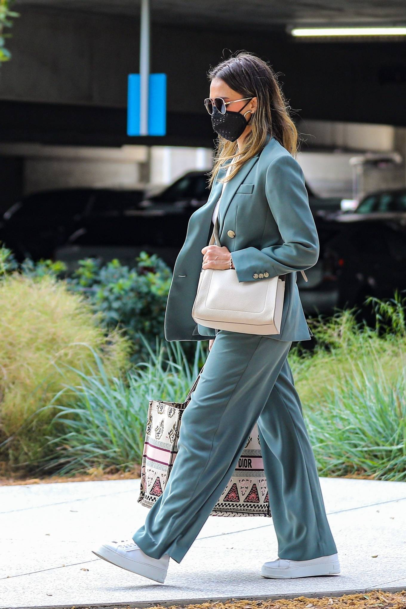 Jessica Alba 2021 : Jessica Alba – Out in a classy suit in Playa Vista-43