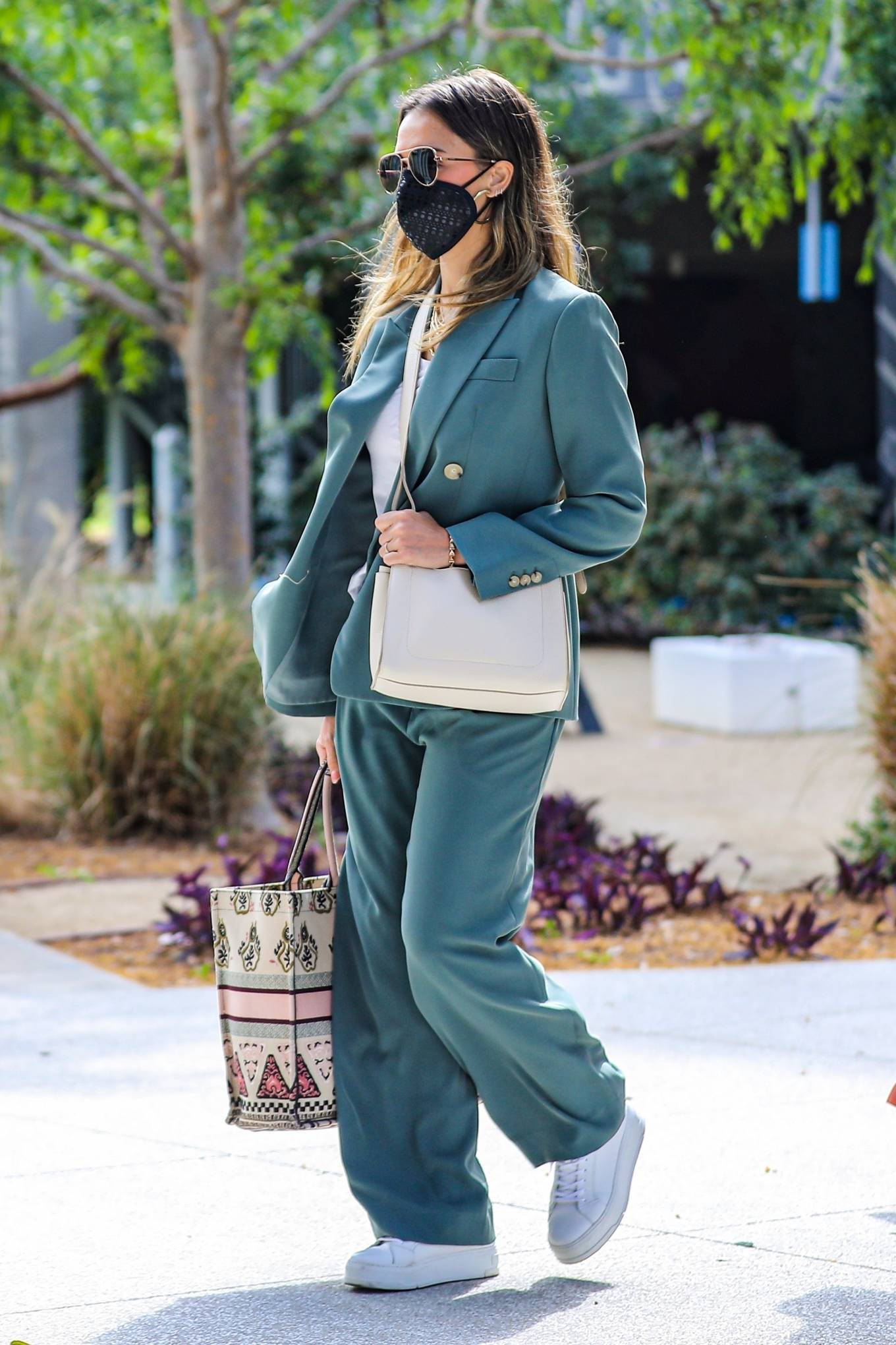 Jessica Alba 2021 : Jessica Alba – Out in a classy suit in Playa Vista-44