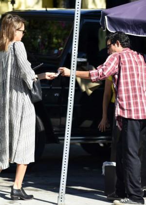 Jessica Alba in Jeans out in LA