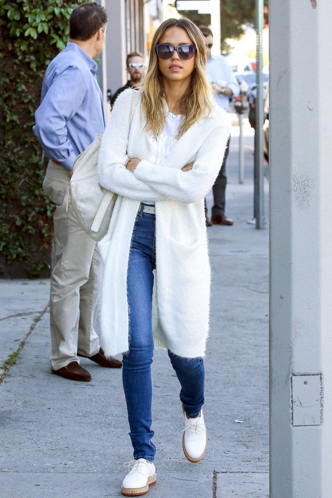Jessica Alba in Jeans out in LA