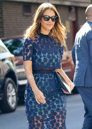 Jessica Alba Out in New York City
