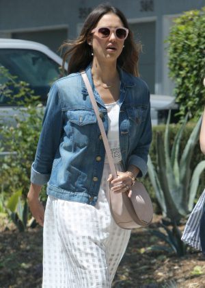 Jessica Alba out in Weho