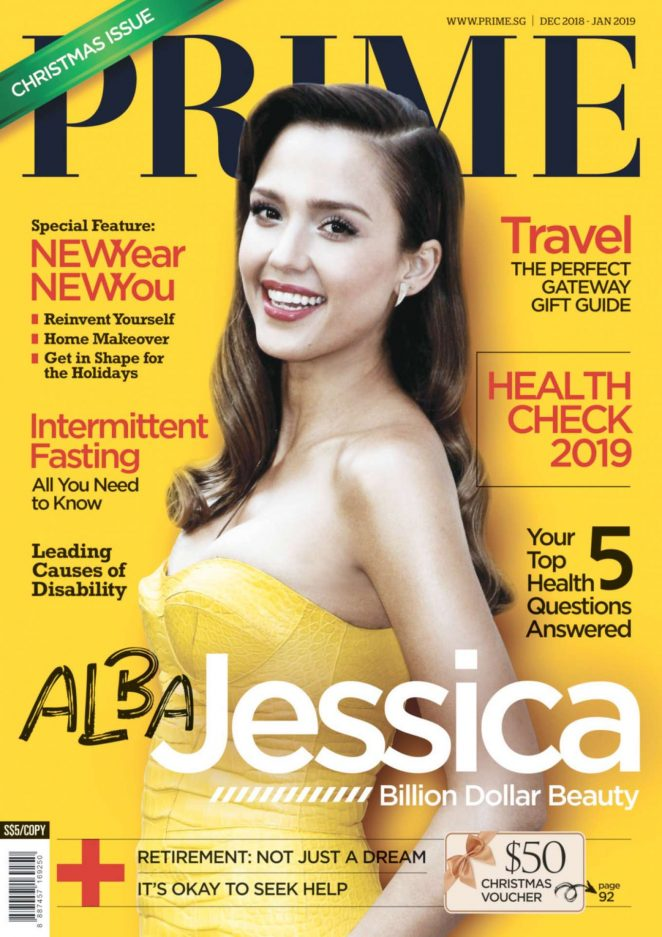 Jessica Alba – Prime Singapore Cover (Dec 2018/Jan 2019)