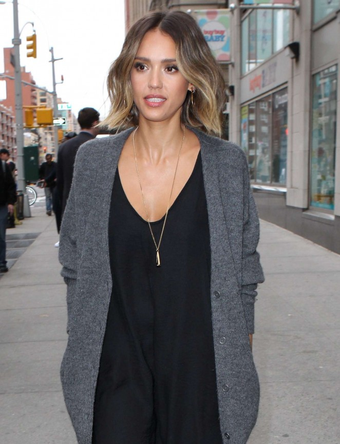 Jessica Alba - Promote The Honest Company in NYC